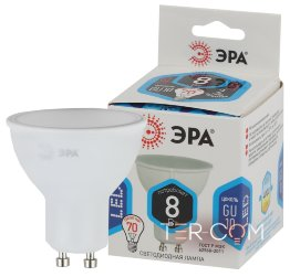 LED MR16-8W-840-GU10 ЭРА